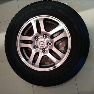 "16"" original Honda rim and new tyre"