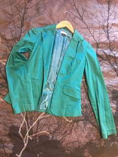 Teal corporate jacket