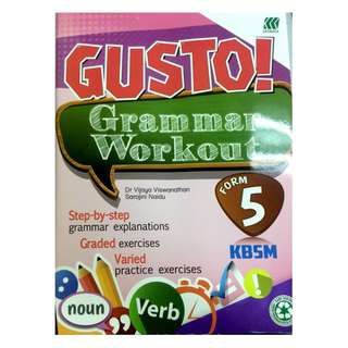 GUSTO! Grammar Workout KBSM Form 5