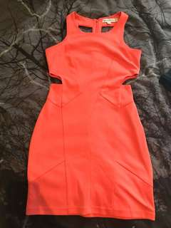 FINDERS KEEPERS coral dress