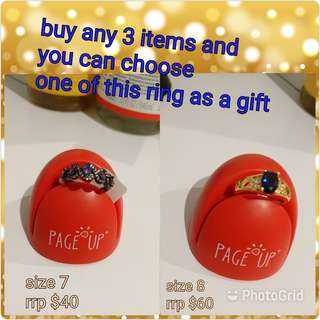 Get one of the ring as a gift when you buy 3 or more items from my page!