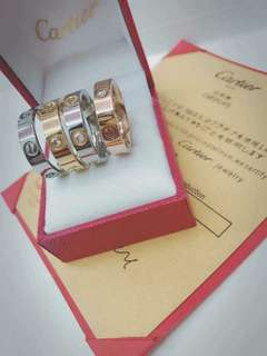 Cartier rings with stone