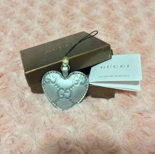 Authentic Gucci key ring (silver)