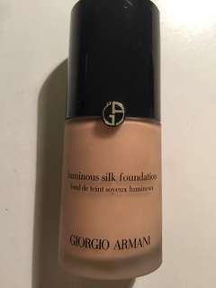 Giorgio Armani luminous silk foundation in shade 4.25