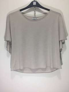 Zara W/B Frilled Top