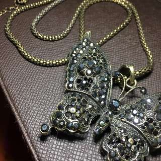Butterfly long necklaces