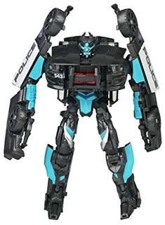 Hasbro 2007 Transformers Movie Deluxe Exclusive Figure in Canister Barricade