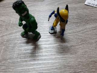 Hulk and wolverine bob head tiny