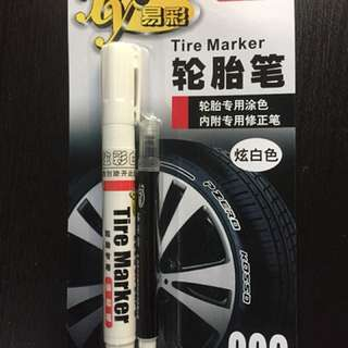 Tyre Marker Pen White with Correction Pen