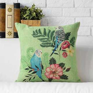 """""""The Budgie Bros"""" Decorative Pillow Throw Cover"""