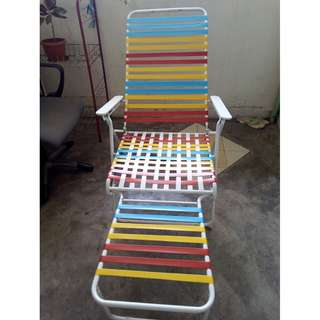 RM100 Recliner Foldable Lazy Chair Outdoor Garden Pool Waterproof. Like New.  Self Collect at Serdang, Only Serious Buyer Need to Call to Deal only.