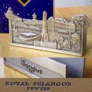 BNiB - Name card Holder Singapore Scene, Royal Selangor Pewter