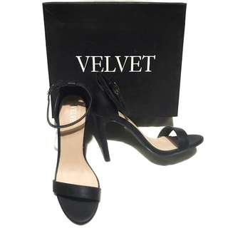 VELVET ankle Straps black High heel / stilettos