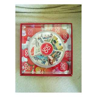 SG50 puzzle medallion set