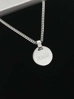 Custom Name 1.3cm Disc Pendant Necklace