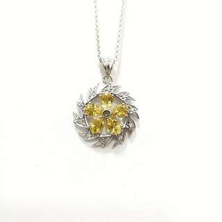 Genuine yellow crystal pendant