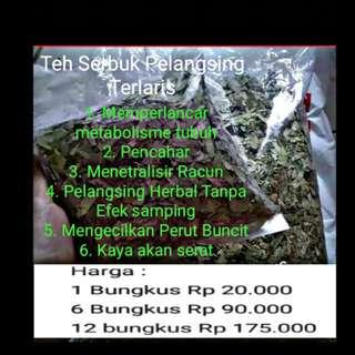 Teh Serbuk Pelangsing Herbal Terlaris