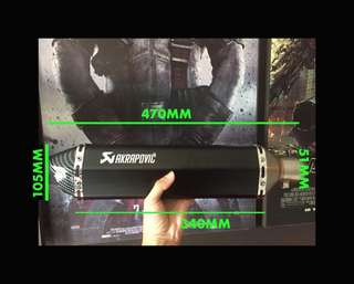 Paling Panjang 470MM Exhaust Muffler Akrapovic