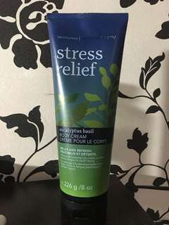 Authentic Bath and body works stress relief body cream