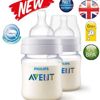 Avent PA Classic+ Clear Bottle 4oz / 125ml Twin Pack (Premium Plastic)