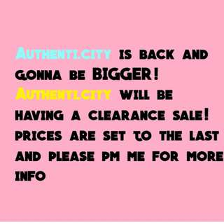 AUTHENTI.CITY CLEARANCE SALE