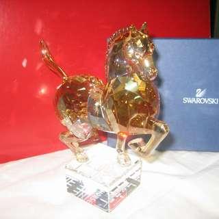 Swarovski Crystal ' Large Golden Horse' 水晶大號馬