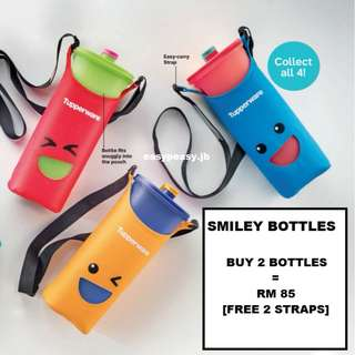 Tupperware Smiley Bottles (2 liters) [READY STOCK] [FREE SHIPPING]