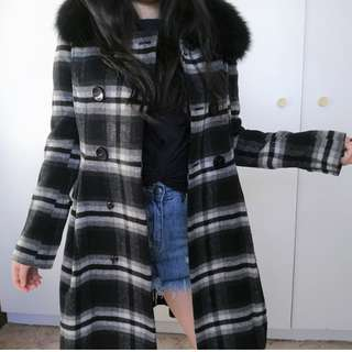 Removable Fur Collar Pretty Coat