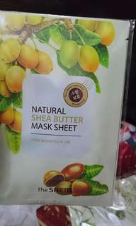 Natural mask sheet shea butter