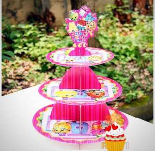 💕 Shopkins party supplies - cupcake stand / dessert stand / cake stand / party deco