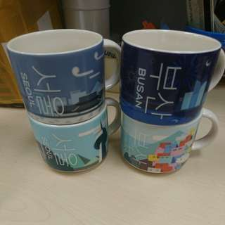 Starbucks Korea Seoul & Busan city mugs set 4pieces