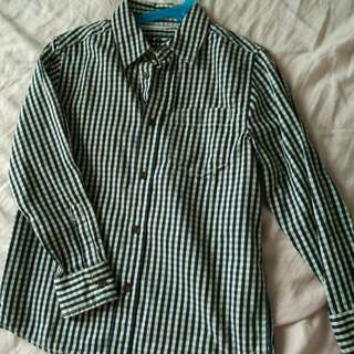 Checkered Boy Long Shirt