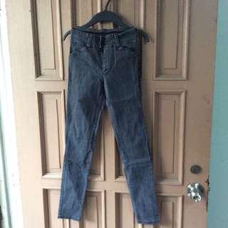 Preloved Polyester Black Pants
