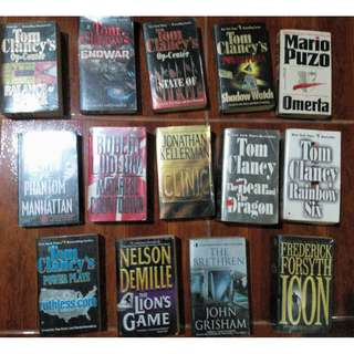Tom Clancy's book and more ( Attention: bookworms, literature lovers and resellers!)
