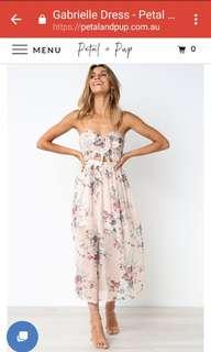 Floral Petal & Pup dress