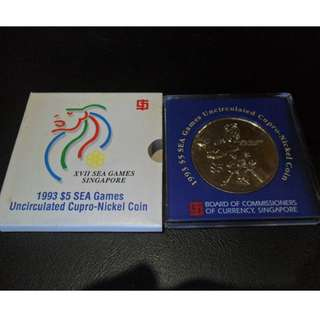 1993 Singapore 17th SEA Games Commemorative $5 Coin