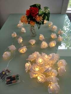Wedding Home white roses led light decoration