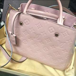 Louis Vuitton Montaigne BB monogram pink