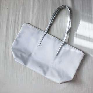 Lacoste Gray/Silver Shoulder Bag