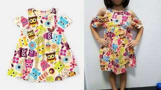 Cartoons off shoulder dress