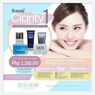 Royale whitening set for oily skin, dry skin and normal skin