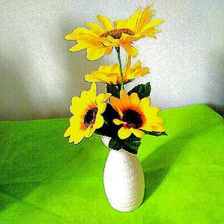 Brand New Artifical SunFlower with Small Vase