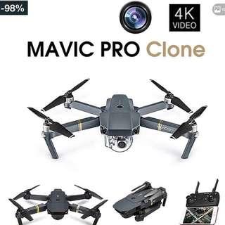 DJI Mavic Pro Clone 4K Real Time Video 1080p Quadcopter Matte Black
