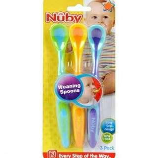 Nuby Sendok Makan Bayi 3pcs