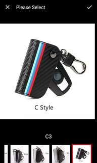 BMW key carbon fiber pouch