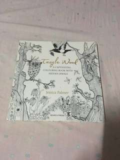 Tanglewood coloring book + Faber Castle Colored Pencils