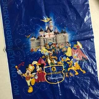 香港迪士尼一周年膠袋 Hong Kong Disneyland 1st anniversary plastic bag