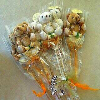 Brand New Toy Bears Hand Bouquet