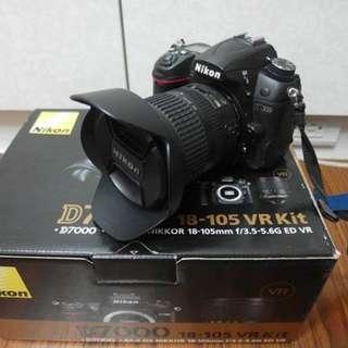 【出售】Nikon D7000 數位單眼相機 盒裝完整 9成新