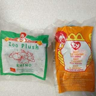 McDonald's 麥當勞 1996及1999年 絕版  毛公仔共2個